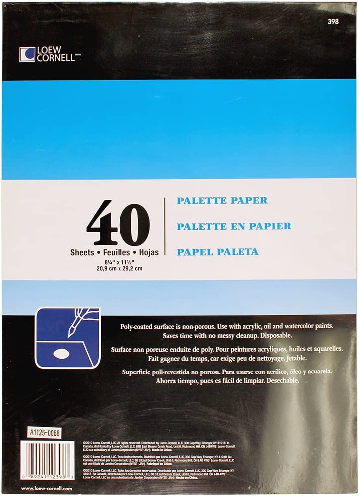 Loew-Cornell 398 Palette New product type Paper SEAL limited product Sheets Pad 40
