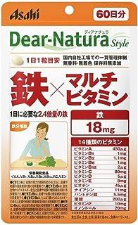 アサヒグループ食品 ディアナチュラスタイル 鉄×マルチビタミン60粒(60日)