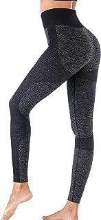 INIBUD High Waist Workout Legging for Women Butt Lift Seamless Yoga Pants Squat Proof Running Tights