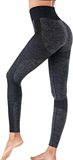 INIBUD High Waist Workout Legging for Women Butt Lift Seamless Yoga Pants Squat Proof Running Tights