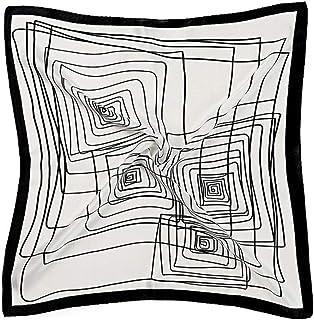 MESHIKAIER Donna 100/% Seta Sciarpa Quadrato Seta Fazzoletto da Collo Lussuoso Foulard 52x52cm