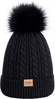 Kids Toddler Baby Winter Beanie Hat, Ages 2-9 Children's Warm Fleece Lined Knit Thick Ski Cap with Pom Pom for Boys Girls