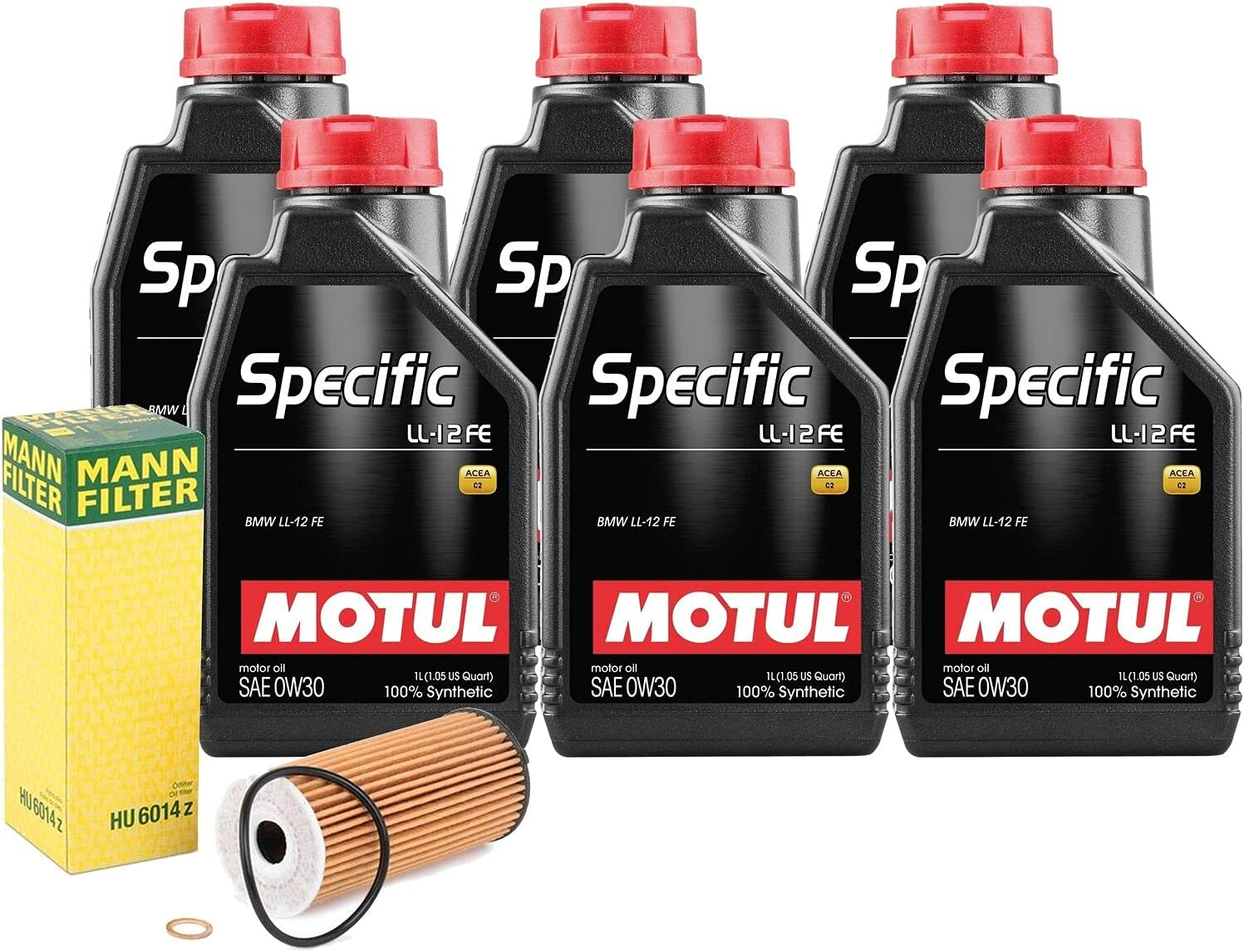 6L SPECIFIC LL12FE 0W30 Filter Las Vegas Mall Motor Max 77% OFF w Compatible kit Change Oil