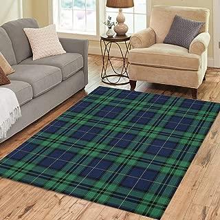 black watch tartan floor rug