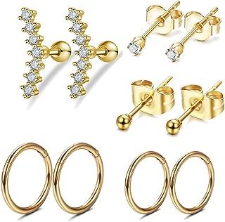 gold side earrings designs