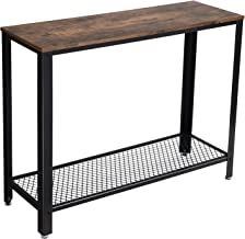 VASAGLE Console Table, Sofa Table, Metal Frame, Easy Assembly, for Entryway, Living Room, Rustic Brown