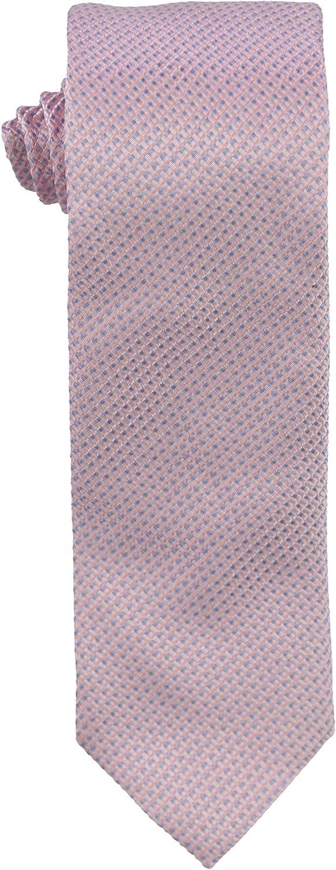 Hugo Boss Mens Textured Silk Self-tied Necktie, Pink, One Size