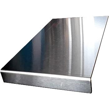 Protector de encimera de acero inoxidable con borde cuadrado, plano o redondo (incluye pies de goma antideslizantes) 300 x 600 Square Fold plata: Amazon.es: Hogar