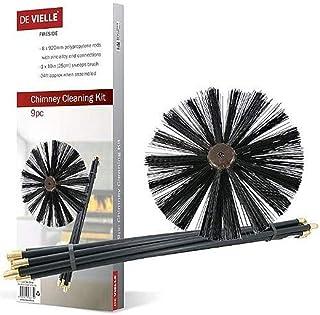 De Vielle - Conjunto de Limpieza para Chimenea, metálico,