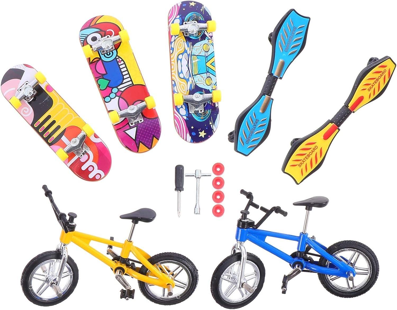 Toddmomy Mini Finger Toys Tin Set Bike Mail order Luxury Skateboards