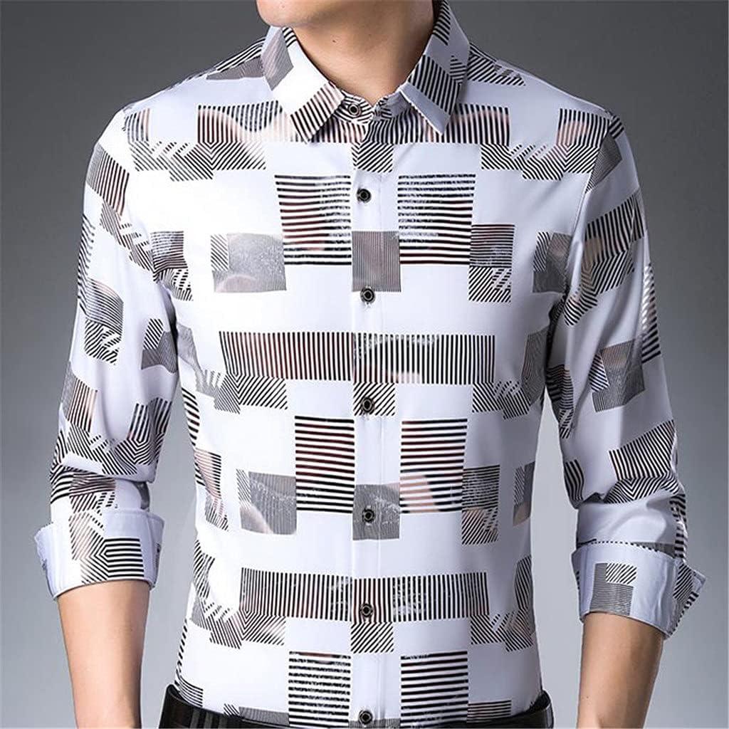 UXZDX CUJUX Max sale 59% OFF Long Sleeve Men Casua Social Streetwear Shirt Spring