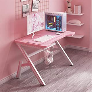 Daily Equipment Gaming Desk Pink Gaming Table Desktop Computer Table Home Broadcast Girl Game Table Net Red Table for Home...