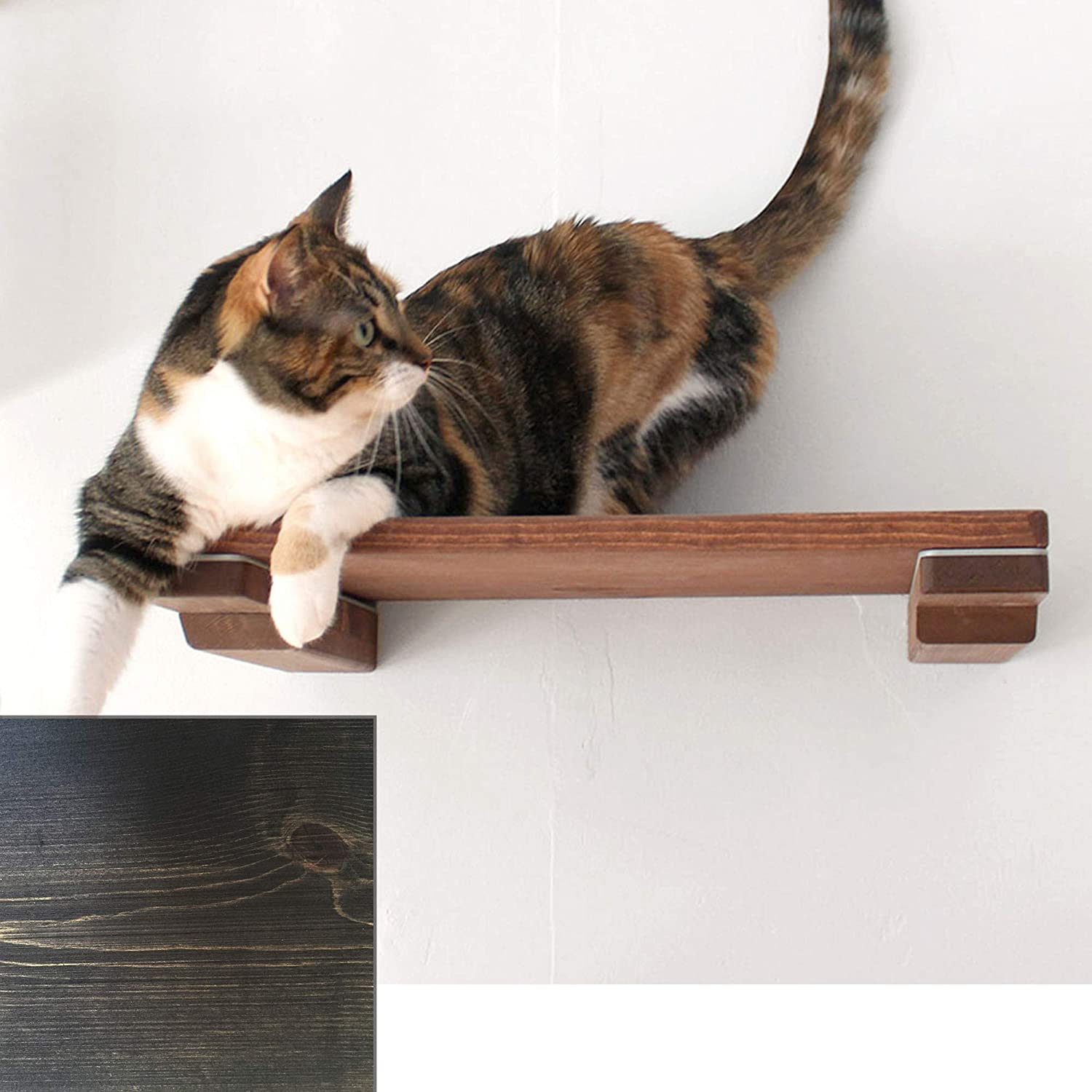 CatastrophiCreations Cat Mod 18  Shelf Handcrafted Elevated Wall, Onyx, One Size