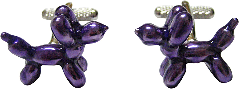 Kiola Designs Purple Balloon Animal Style Cufflinks