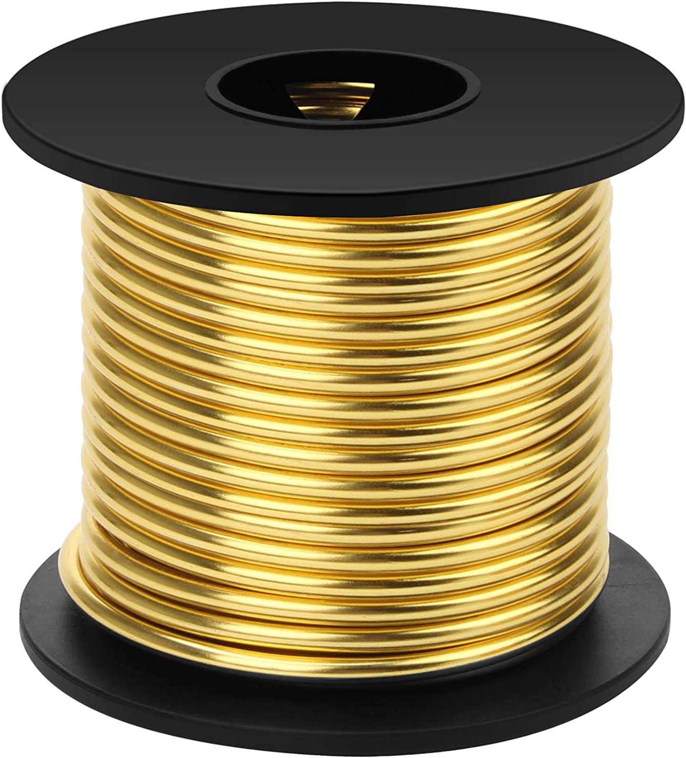 Gold, 1 mm x 23 m Aluminum Craft Wire,1mm 2mm 3mm Gold Aluminum Wire for Crafting Wire Soft DIY Metal Craft Art Wire