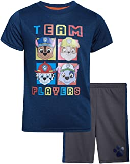 Nickelodeon Boys' Paw Patrol Shorts Set – 2 Piece T-Shirt and Shorts (Toddler/Little Boy)