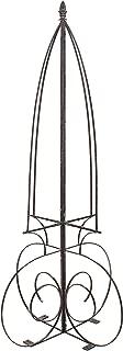 H Potter Garden Trellis Obelisk for Climbing Plants Wrought Iron Metal Yard Art Patio Deck Weather Resistant Large