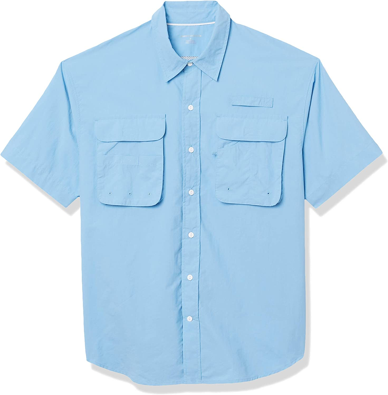 Amazon Essentials Men's Short-Sleeve Breathable Fishing Shirt