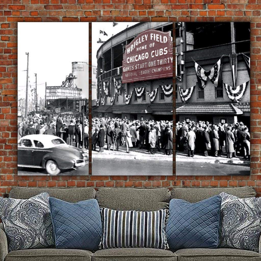 Popular shop is the lowest price challenge 1945 World Series - Wrigley Field in Wall Max 65% OFF Size: Art Multicolor 6