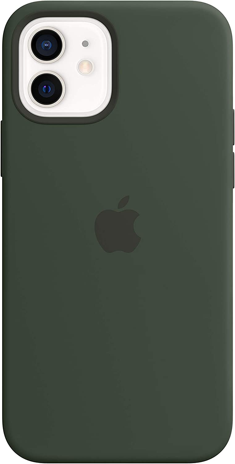 Apple Silicone Case with MagSafe (for iPhone 12 and iPhone 12 Pro) - Cyprus Green