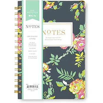"Day Designer for Blue Sky Notebook Journal, 160 Ruled Pages, Twin-Wire Binding, Hardcover, 5.75"" x 8.5"", Peyton Navy"