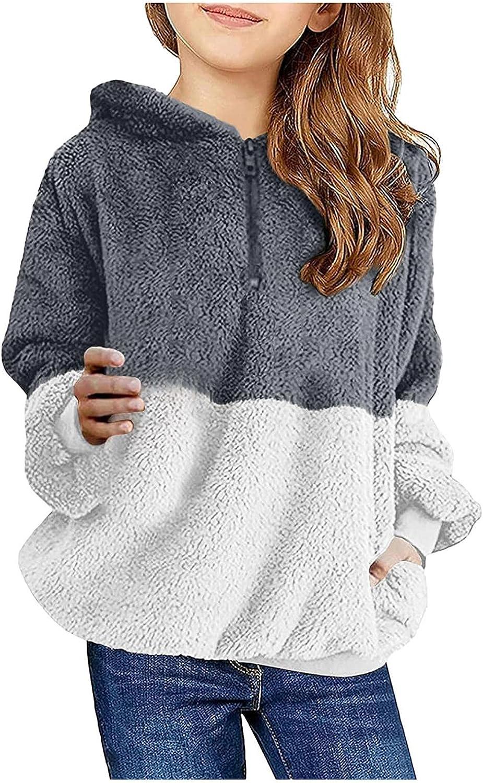 IKFIVQD Discount mail order Kids Girls Winter Warm Knited Max 41% OFF Coats Hooded Cartoon Fur S