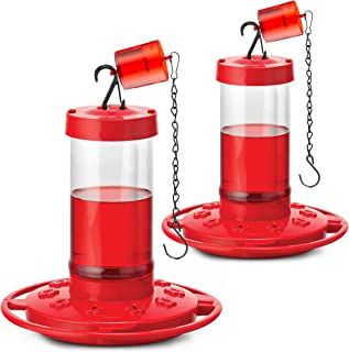 Hummingbird Feeders 16 oz. First Nature 3051, Set of 2 - Bundled With Attachable Ant Guard, And SEWANTA Hanging Chain (4 pcs set)