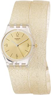 Swatch Double Wrap Women's Dial Silicone Band Watch