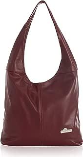 Womens Large Hobo Bag - Leather Shoulder Handbag Italian Soft Leather - OLIVIA