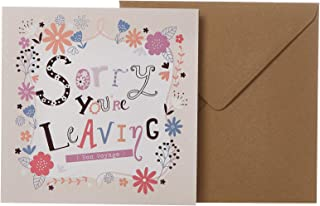 J&G Greeting Cards Sorry You're Leaving Card - Multi Color