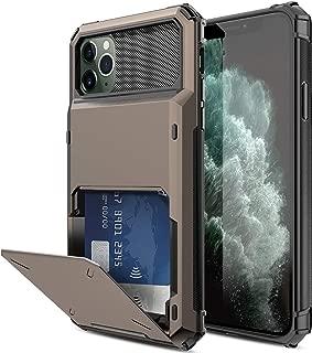 Elegant Choise Compatible iPhone 11 Pro Max Case Wallet (4 Card) Credit Card Slot Holder Case Hybrid Dual Layer Rugged Shockproof Full Body Bumper Rubber Armor Defender Protective Cover (Black)