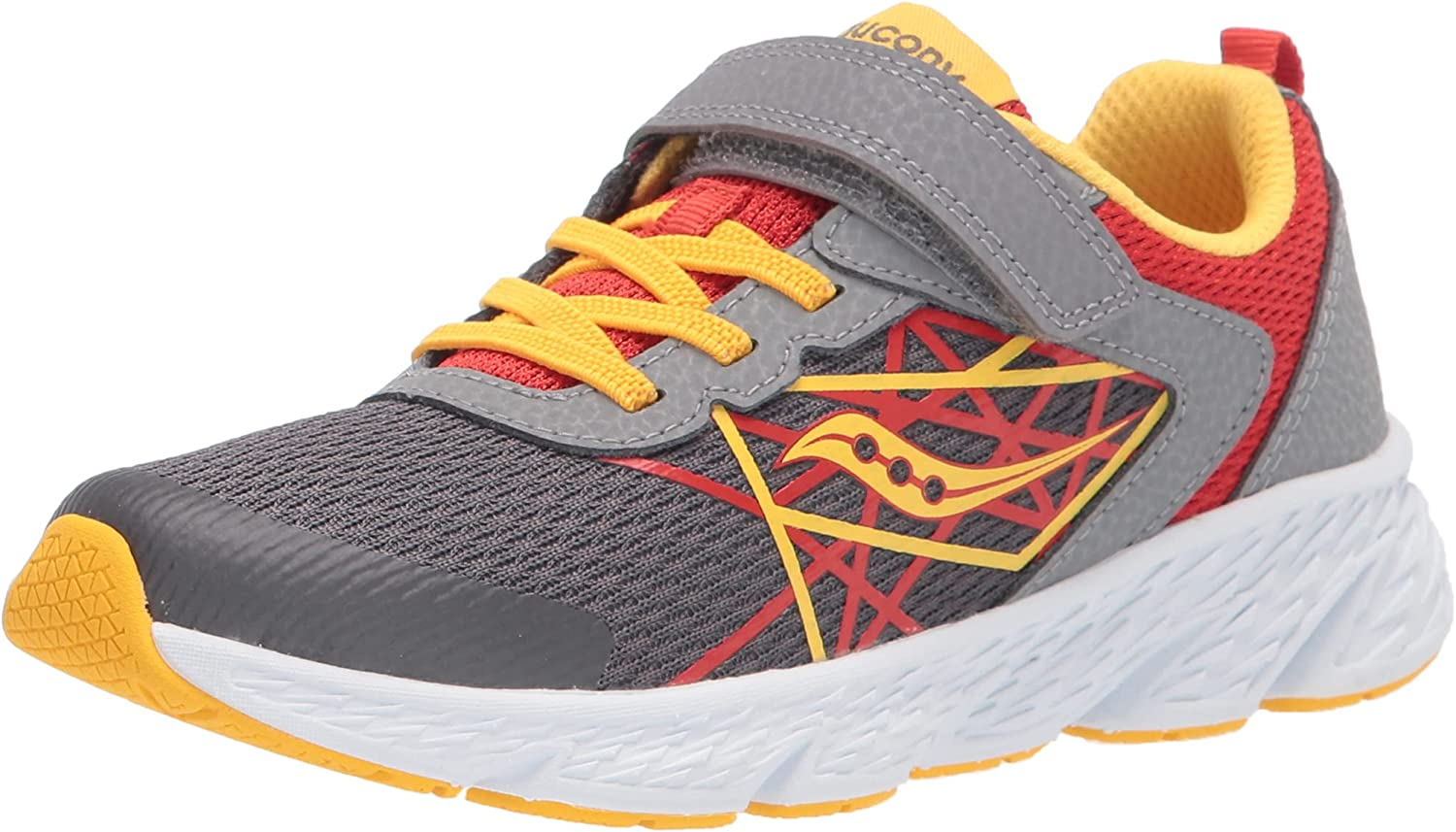 Online limited product Saucony Wind Alternative Closure Running Shoe RED 40% OFF Cheap Sale Grey Yellow