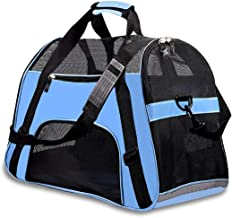 PPOGOO Large Pet Travel Carriers 20.9x10.2x12.6 22lb(10KG) Soft Sided Portable Bags Dogs Cats Airline Approved Dog Carrier,Upgraded Version