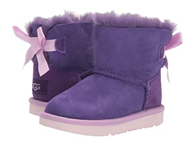 UGG Kids Mini Bailey Bow II (Toddler/Little Kid) (Violet Bloom) Girls Shoes