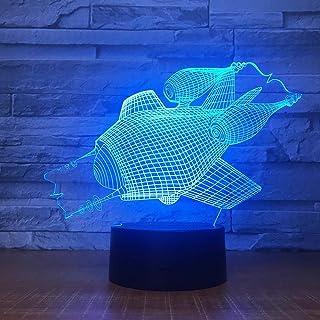 La Forme sous-Marine 3D LED veilleuse de noël 7 Couleurs Interrupteur Tactile changeant pour la décoration intérieure Lamp...