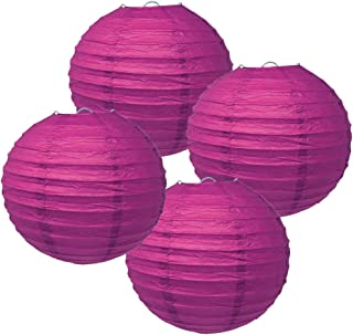 Just Artifacts 6-Inch Mulberry Purple Paper Lanterns (Set of 4) - Click for More Chinese/Japanese Paper Lantern Colors & Sizes!
