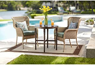 Hampton Bay Lemon Grove Round Wicker Outdoor Bistro Table