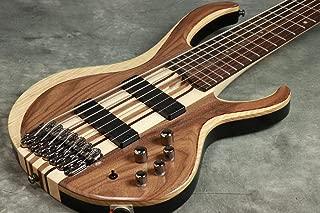 Ibanez BTB747 7 string Electric Bass Guitar with Mahogany-backed Ash Wings, Walnut Top2 Humbucking Pickups and 3-band Active EQ - Natural Flat Low Gloss