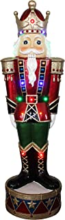 Fraser Hill Farm Indoor/Covered Outdoor Christmas Decorations, 3-Ft. Resin Nutcracker Greeter with LED Lights, Multi