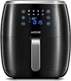 Friteuse Électrique sans Huile,AIcook Friteuse à Air Chaude sans BPA,Écran Tactile LED,Recette Gratuite