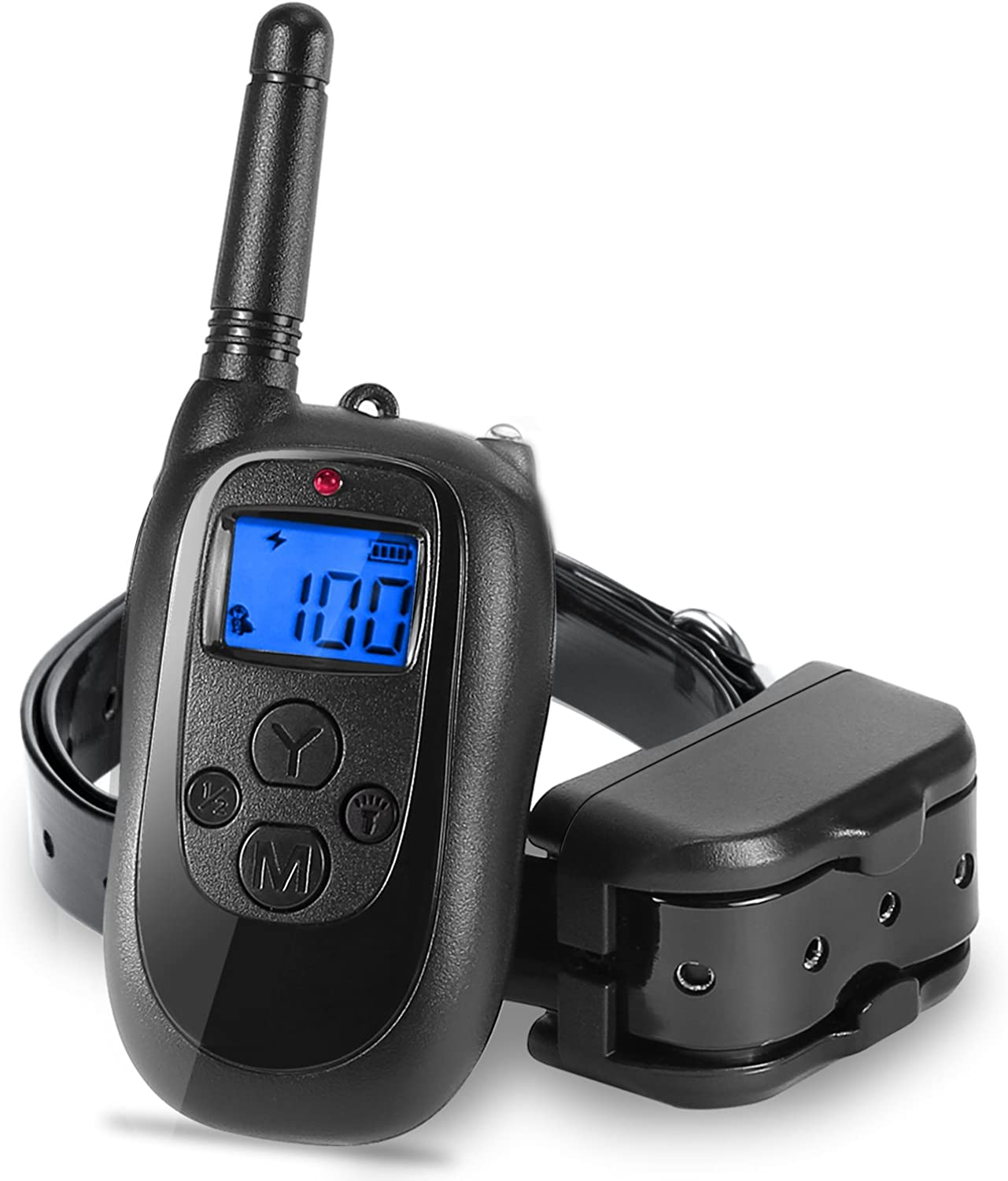 ALTMAN Trainning Collar Rechargeable and Waterproof 330yd with Beep Vibration Shock Electric Collar(10Lbs110Lbs)