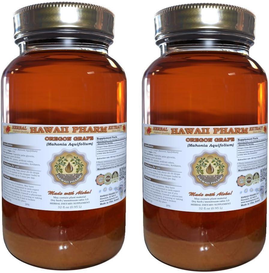 Oregon Mahonia aquifolium Liquid Sup [Alternative dealer] Herbal Tincture Detroit Mall Extract