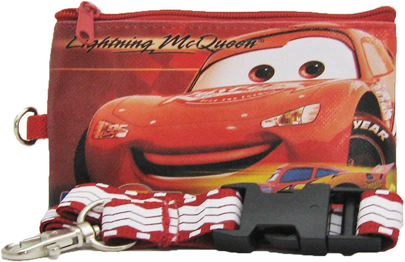 Disney Car 95 Lanyard with Detachable Wallet - Red