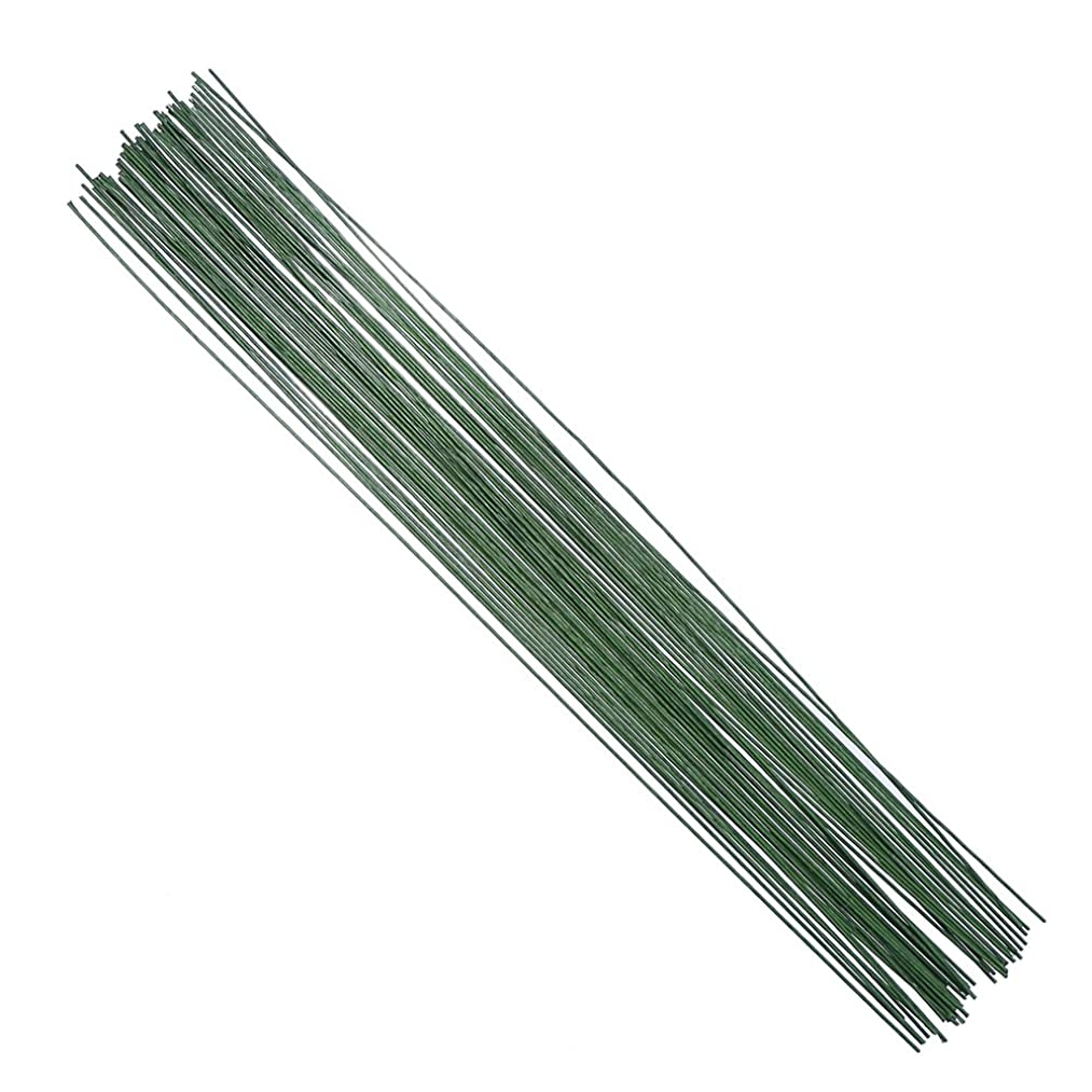 Decora 20 Gauge Dark Green Floral Wire 16 inch,50/Package