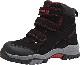 Elaphurus Kids Mid Hiking Boots Winter Snow Boots Outdoor Backpacking Shoes Warm Shoes(Little Kid/Big Kid)