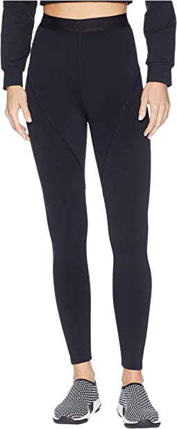 Leonie High-Waisted Leggings with Logo Elastic Waistband