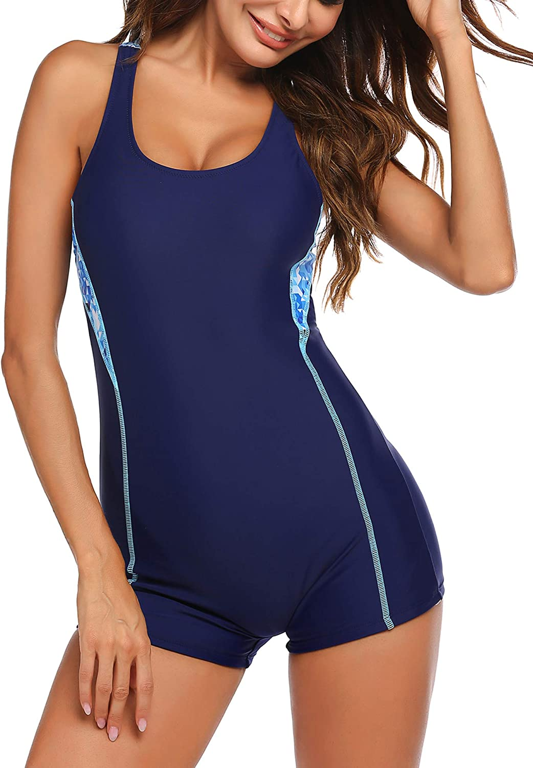 Ekouaer 5 ☆ very popular One Piece Swimsuits for Swimwear Women Max 46% OFF Training Athletic