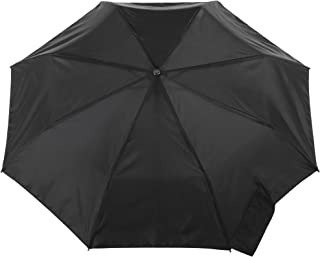 totes Titan Automatic Open Close Windproof & Water-Resistant Foldable Umbrella, Black
