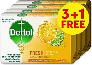 Dettol Fresh Anti-bacterial Bar Soap 120g 3+1 Free