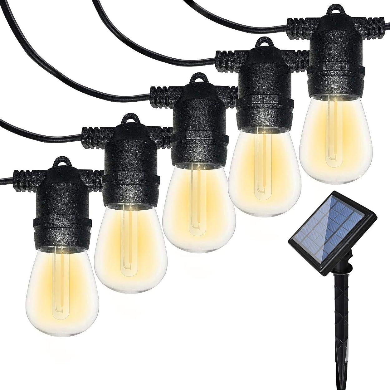 蘇生する変動する現実的Bomcosy ソーラー LEDストリングライト イルミネーションライト ソーラー充電式 12led電球 7.6mワイヤーライト 防雨型 屋外 IP65防水 電飾 飾り パーティー 屋外 室内 結婚式対応 連結不可